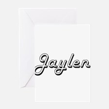 Jaylen Classic Style Name Greeting Cards