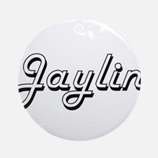 Jaylin Classic Style Name Ornament (Round)
