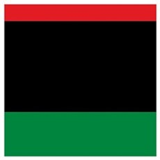 Pan-African UNIA Liberation Flag Canvas Art