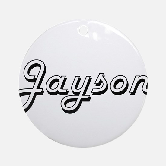 Jayson Classic Style Name Ornament (Round)