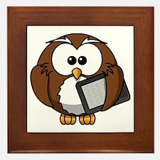 Modern Owl Framed Tile