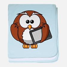 Modern Owl baby blanket