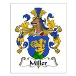 Miller Family Crest  Small Poster