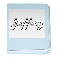 Jeffery Classic Style Name baby blanket