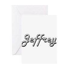 Jeffrey Classic Style Name Greeting Cards