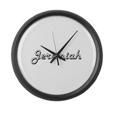 Jeremiah Classic Style Name Large Wall Clock