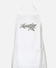 Hawaii Script with Tropical Flower Apron