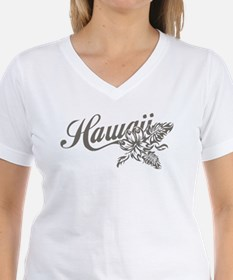 Hawaii Script with Tropical Flower T-Shirt