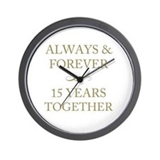 15 Years Together Wall Clock