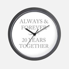 20 Years Together Wall Clock