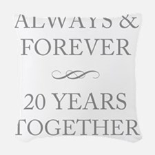 20 Years Together Woven Throw Pillow