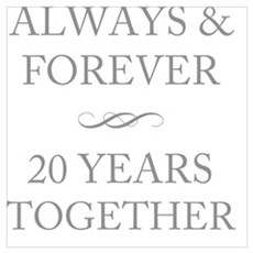 20 Years Together Framed Print