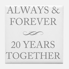 20 Years Together Tile Coaster