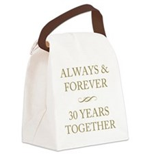 30 Years Together Canvas Lunch Bag
