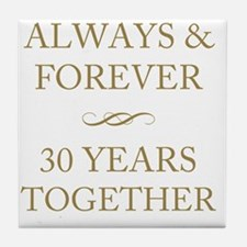 30 Years Together Tile Coaster