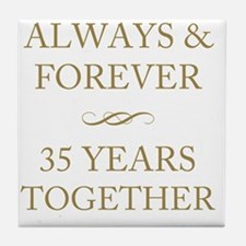 35 Years Together Tile Coaster
