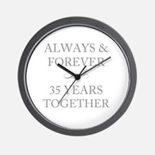 35 Years Together Wall Clock