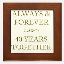 40 Years Together Framed Tile
