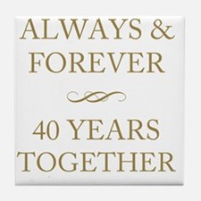 40 Years Together Tile Coaster