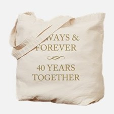 40 Years Together Tote Bag