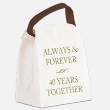 40 Years Together Canvas Lunch Bag