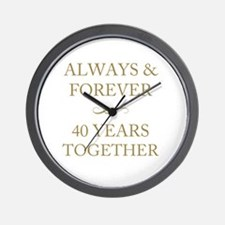 40 Years Together Wall Clock