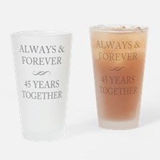 45 Years Together Drinking Glass