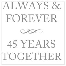 45 Years Together Poster