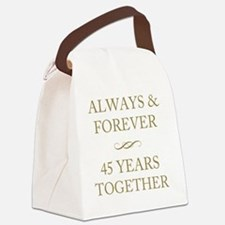 45 Years Together Canvas Lunch Bag