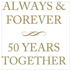 50 Years Together Framed Print