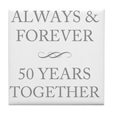 50 Years Together Tile Coaster