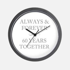 60 Years Together Wall Clock