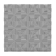 Optical Diamonds Tile Coaster