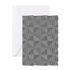 Optical Diamonds Greeting Cards