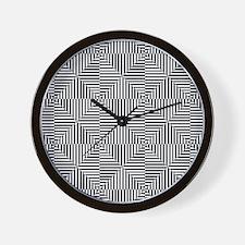 Optical Diamonds Wall Clock