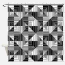 Optical Diamonds Shower Curtain