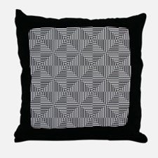 Optical Diamonds Throw Pillow