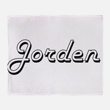 Jorden Classic Style Name Throw Blanket