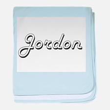 Jordon Classic Style Name baby blanket