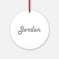Jordon Classic Style Name Ornament (Round)