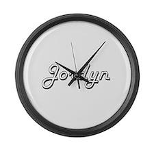 Jordyn Classic Style Name Large Wall Clock