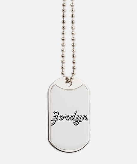 Jordyn Classic Style Name Dog Tags