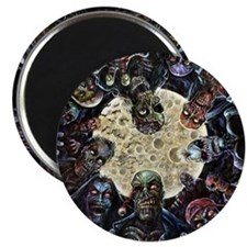 Zombies Full Moon Magnet