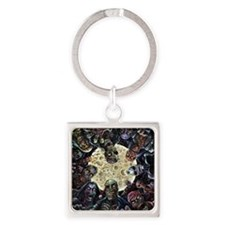 Zombies Full Moon Attack Square Keychain