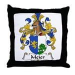 Meier Family Crest Throw Pillow