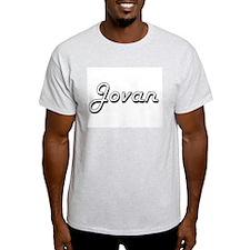 Jovan Classic Style Name T-Shirt