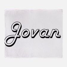 Jovan Classic Style Name Throw Blanket