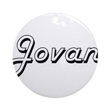 Jovan Classic Style Name Ornament (Round)