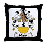 Mayr Family Crest  Throw Pillow