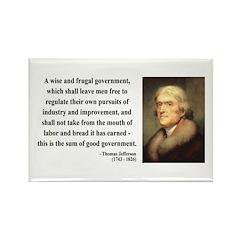 Thomas Jefferson 23 Rectangle Magnet (10 pack)